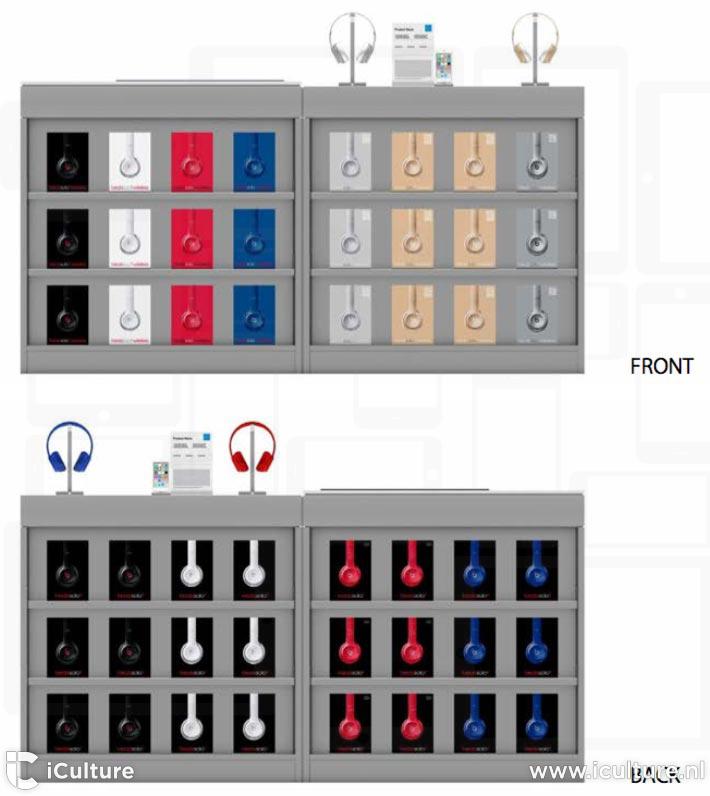 Toonkasten voor Beats-koptelefoons bij APR