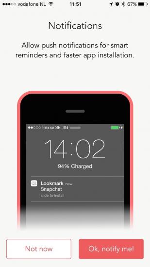 Lookmark herinnert je om nieuw ontdekte apps te downloaden.
