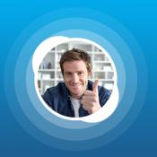 Skype afbeelding met man