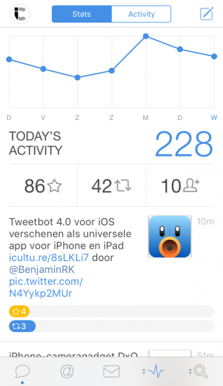 Tweetbot 4 voor iPhone