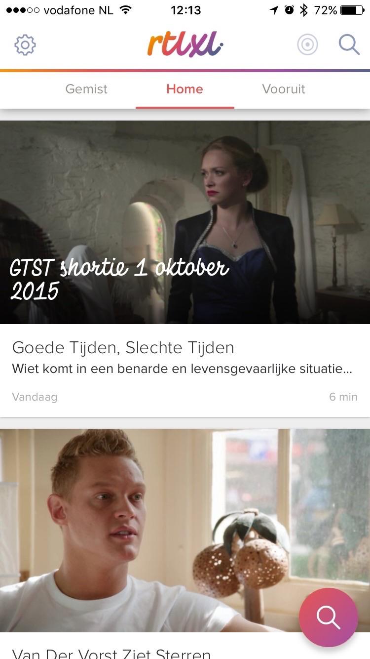 RTL XL in het nieuwe overzicht.