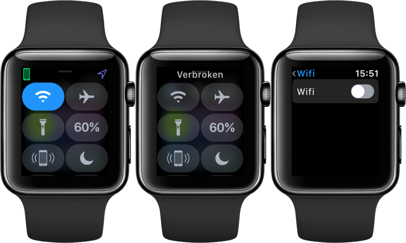 Wi-Fi op Apple Watch