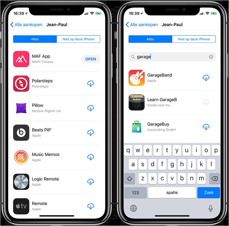 Apps opnieuw downloaden