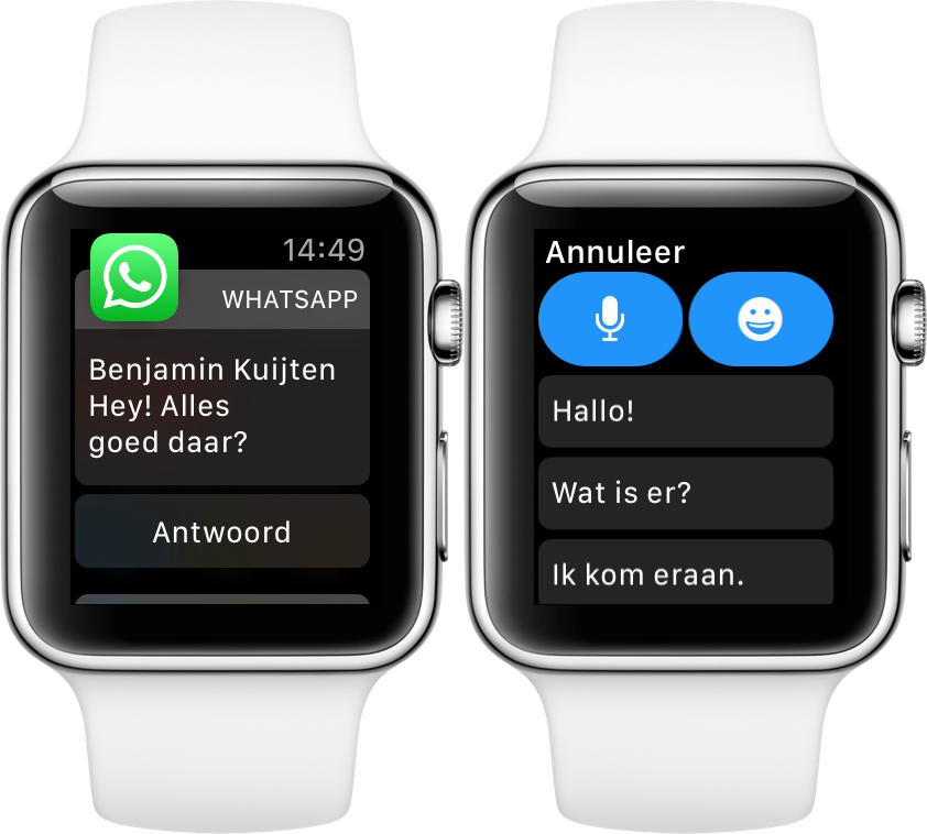 WhatsApp op de Apple Watch