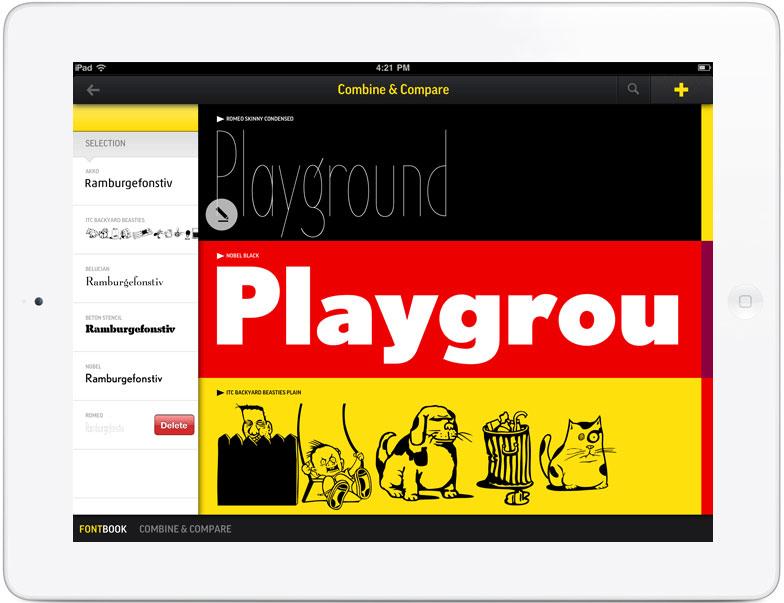 FontBook iPad Pro