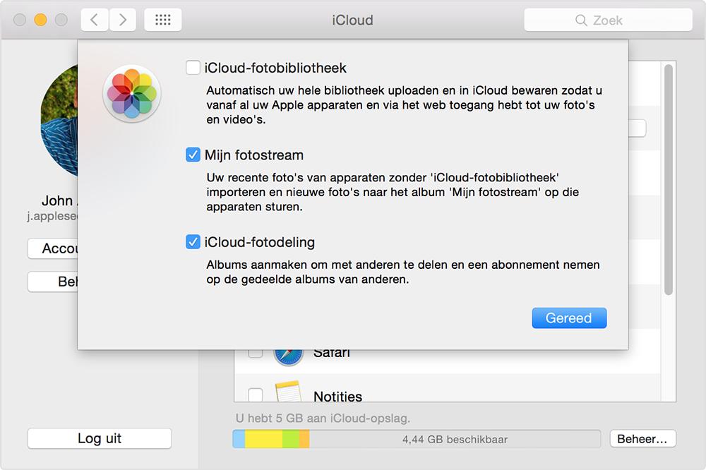 Mijn Fotostream op de Mac.