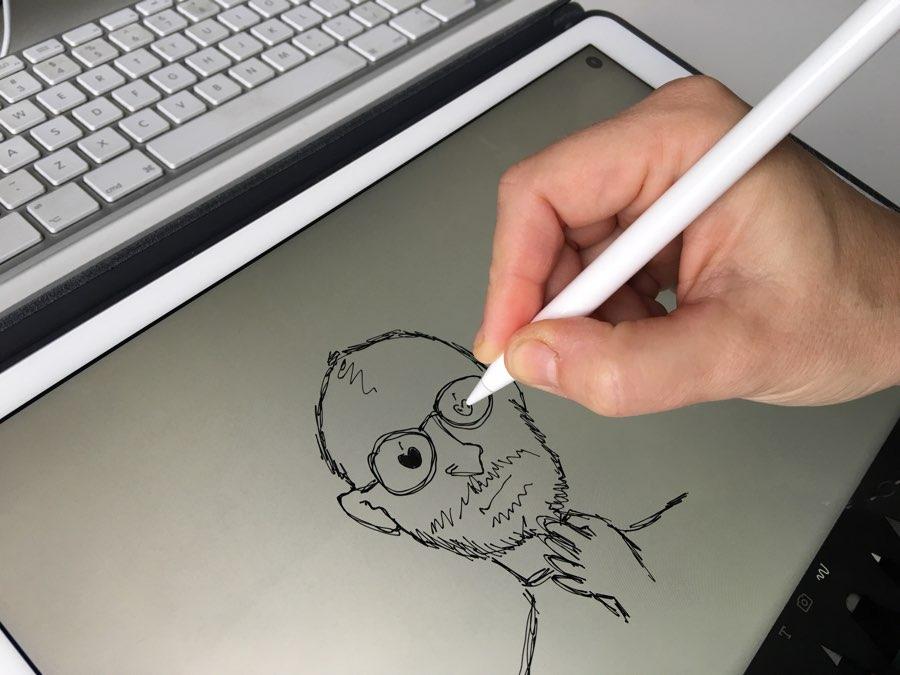 Apple Pencil: een tekening maken.