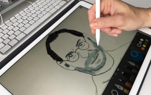 Apple Pencil: met de Paper-app kun je ook schilderen.