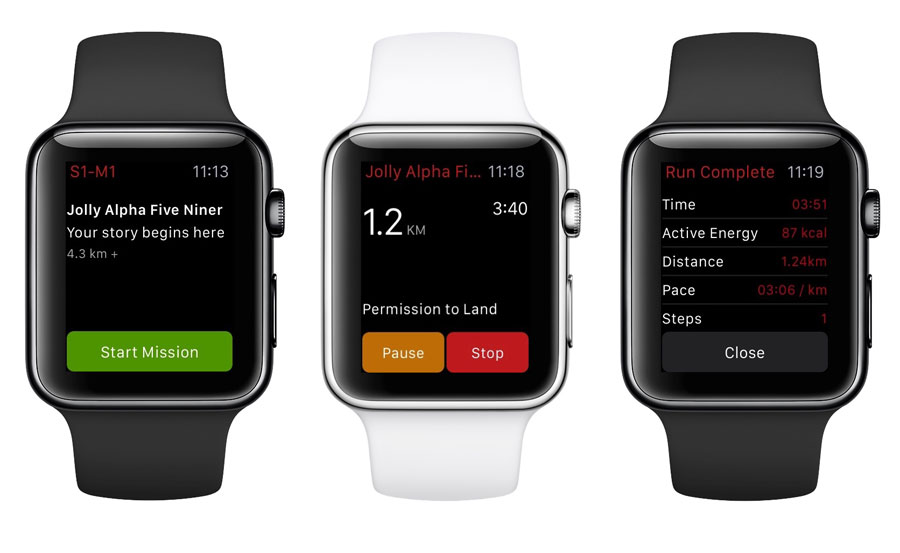 Zombies Run op de Apple Watch