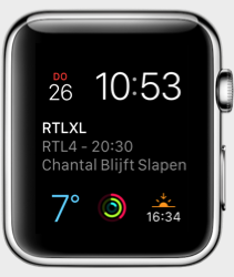 RTL XL op je Apple Watch.