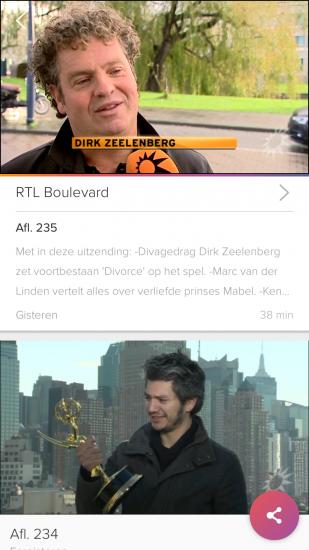RTL XL terugkijken van programma's.