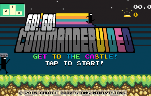 Eindeloos rennen in Go! Go! CommanderVideo.