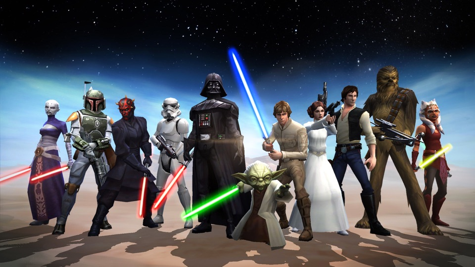 Star Wars: Galaxy of Heroes voor iOS.
