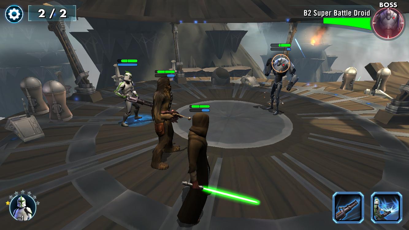 Star Wars: Galaxy of Heroes voor iOS.