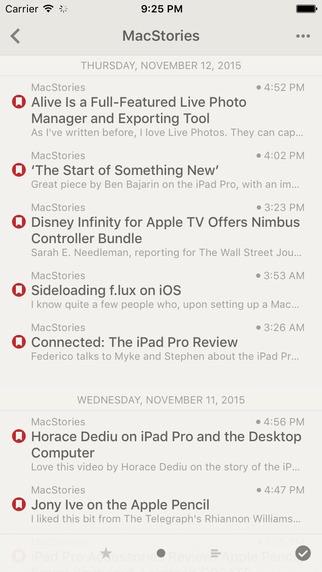 Reeder voor iOS.