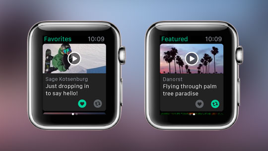 Vine op Apple Watch