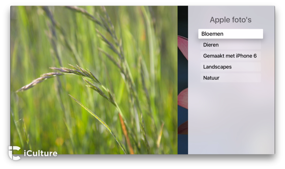 Apple TV screensavers instellen, stap 2.