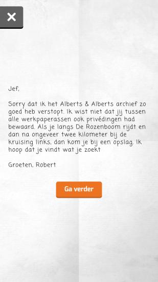 Brief aan Jef in GTST Meerdijk.