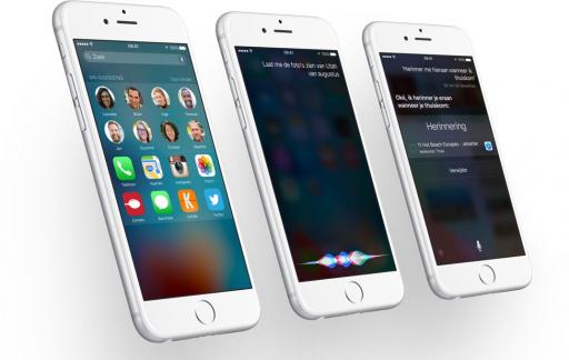 iOS 9 met iPhones.