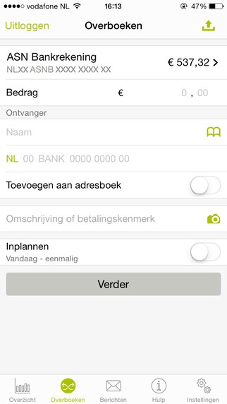 ASN Mobiel Bankieren.
