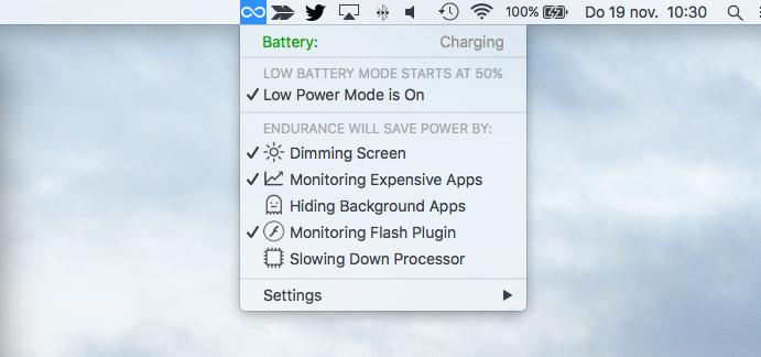 Met Endurance gaat je MacBook-batterij langer mee.