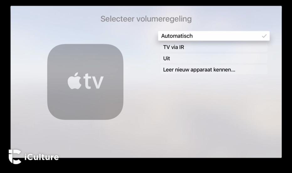 Volumeregeling met de nieuwe Apple TV.