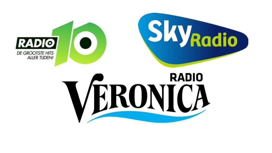 Radio 10, Veronica en Sky Radio.