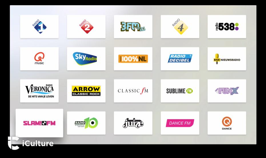 Luister naar Nederlandse radiostations op de Apple TV met Radio.