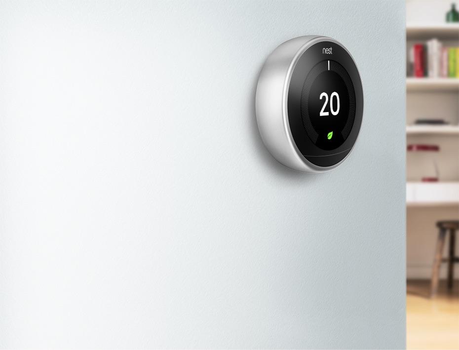 Derde generatie Nest thermostaat.