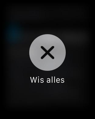 Apple Watch-meldingen afsluiten.