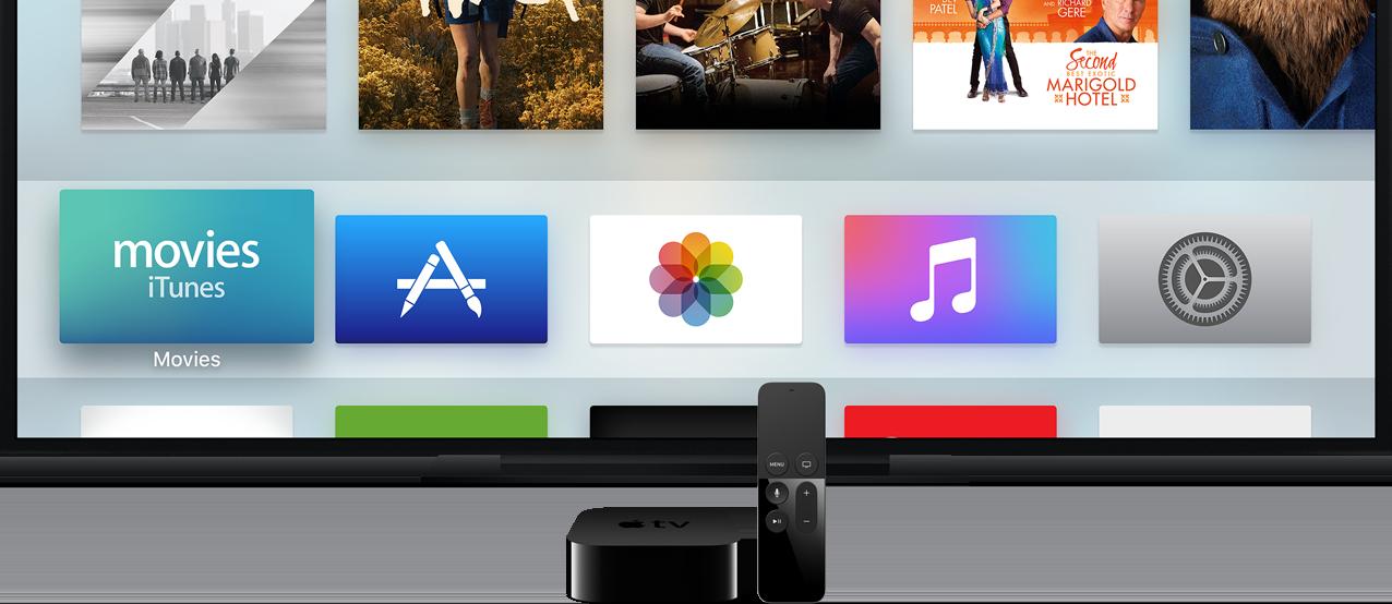 Apple TV met tvOS.