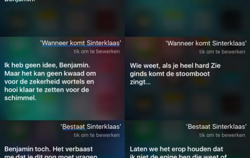 Siri en Sinterklaas.
