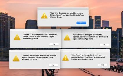 Apps Mac-probleem