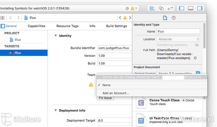 xcode-sideloading-team-selecteren