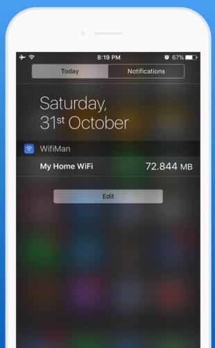 Met WifiMan check je het datagebruik.