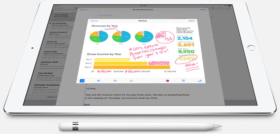 Apple Pencil: mail met afbeeldingen