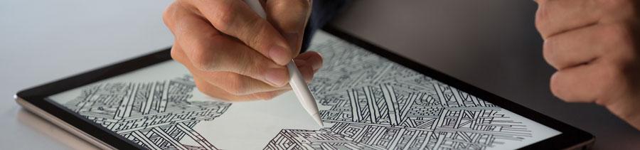 Apple Pencil: schetsen maken