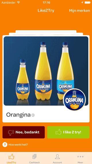 Scoupy: korting op Orangina