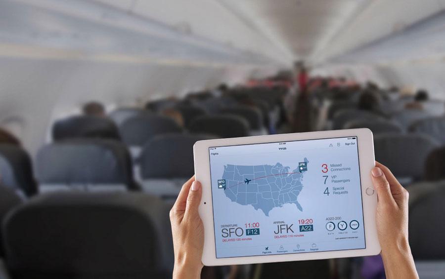 iPad Pro in het vliegtuig