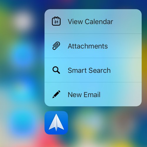 Spark Mail 3D Touch