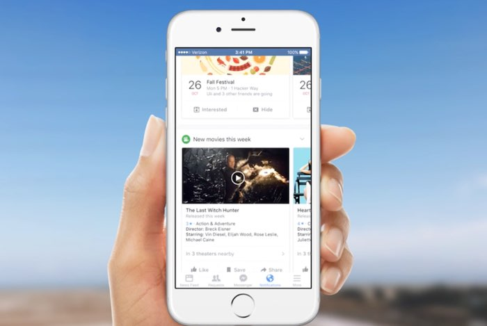 Facebook Notify nieuwsapp