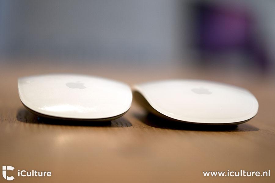 Apple Magic Mouse 2 review: oude en nieuwe muis aan de voorkant gezien