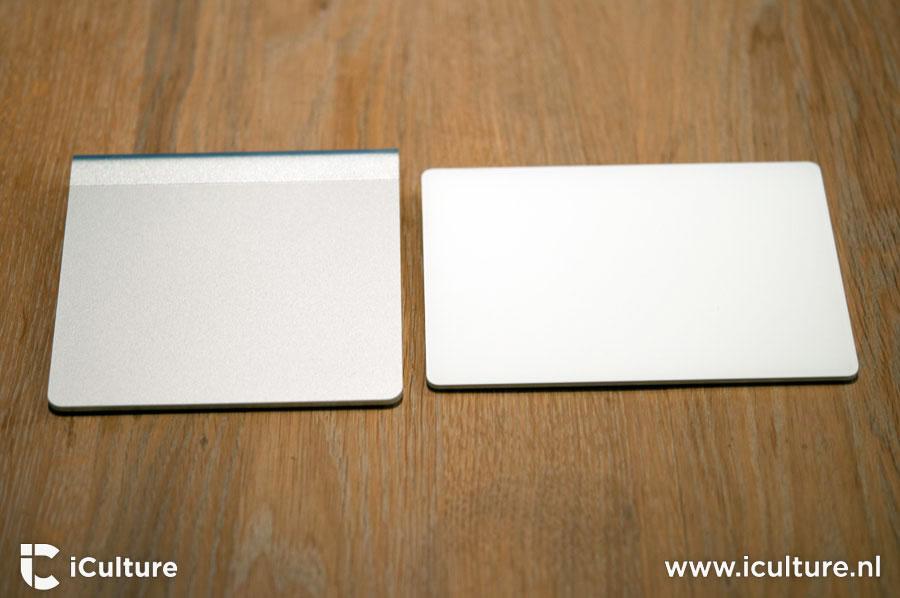 Magic Trackpad 2 reviews: oude en nieuwe trackpad naast elkaar