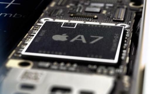 Secure Enclave in de A7-chip op de iPhone 5s.