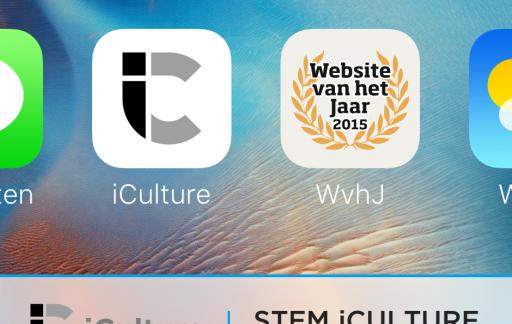 Website van het Jaar 2015 | app iconen