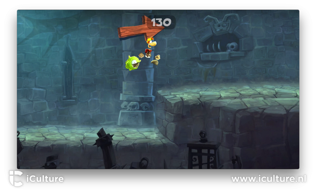 Rayman Adventures op de Apple TV.