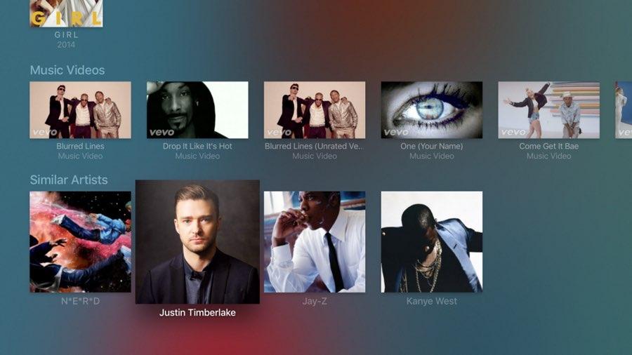 Plex op Apple TV: muziekvideos