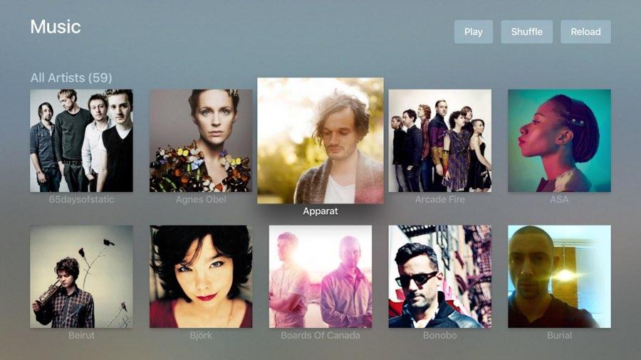 Plex op Apple TV: muziek