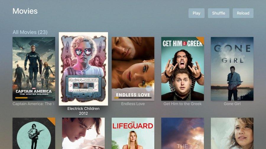 Plex op Apple TV: films