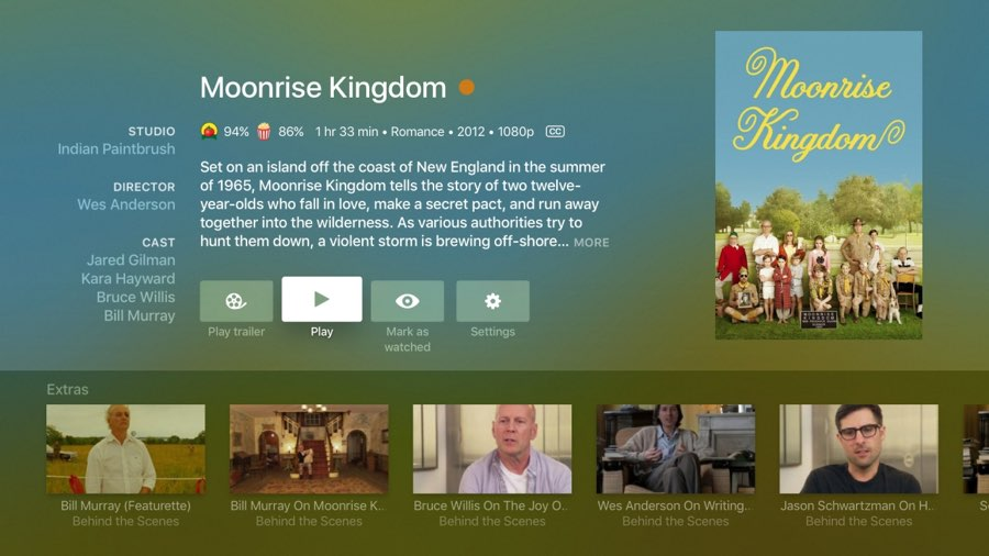 Plex op Apple TV: details van een film
